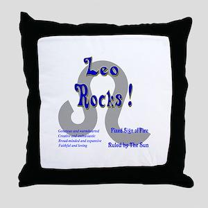 Leo Rocks ! Throw Pillow