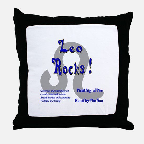 Leo Rocks ! Throw Pillow