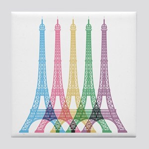 Eiffel Tower Pattern Tile Coaster