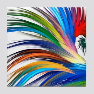 Colorful Abstract Tile Coaster