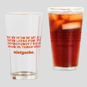 Many Men Wait Drinking Glass