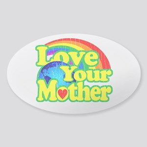 Retro Love Your Mother Sticker