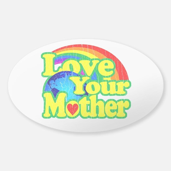 Retro Love Your Mother Bumper Stickers