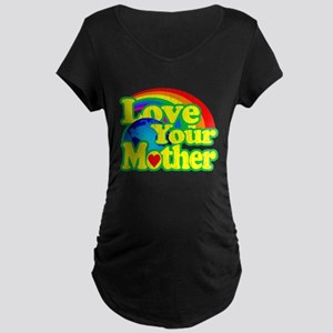 Retro Love Your Mother Maternity T-Shirt