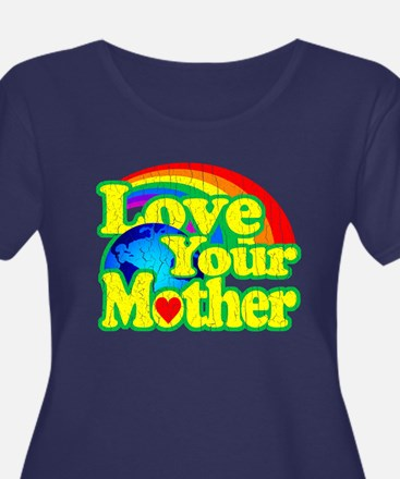 Retro Love Your Mother Plus Size T-Shirt