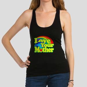 Retro Love Your Mother Racerback Tank Top
