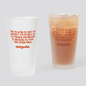 Flame Is Not So Bright Drinking Glass