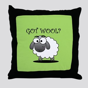 GOT WOOL? Throw Pillow
