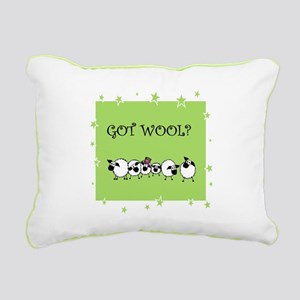 GOT WOOL? Rectangular Canvas Pillow