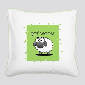 GOT WOOL? Square Canvas Pillow