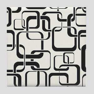 Black and White Retro Tile Coaster