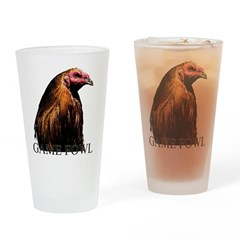 American Game Fowl. Drinking Glass