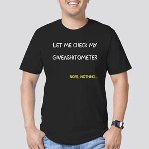 Let me check giveashitometer Men's Fitted T-Shirt