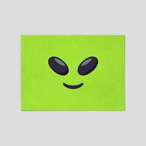 Alien Emoji Face 5'x7'Area Rug
