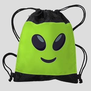 Alien Emoji Face Drawstring Bag
