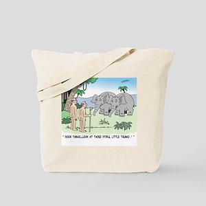 Elephants Pitying Nudists Tote Bag
