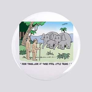 "Elephants Pitying Nudists 3.5"" Button"