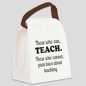 TEACHERS Canvas Lunch Bag