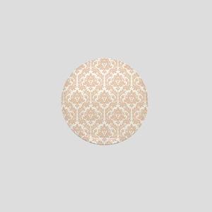 Linen Bege Damask Mini Button