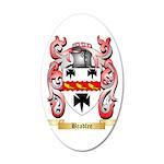 Bradlee 35x21 Oval Wall Decal