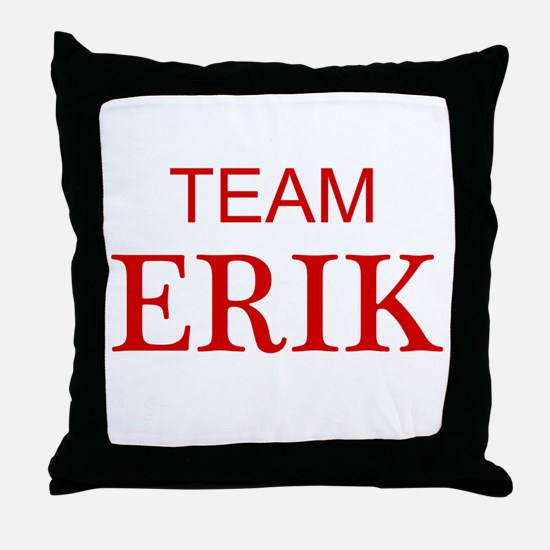 Team Erik Throw Pillow