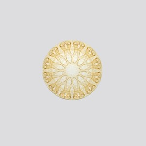 Alien Calla Flowers kaleidoscope Mini Button