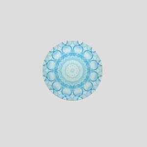 Blue Queens Mandala Mini Button
