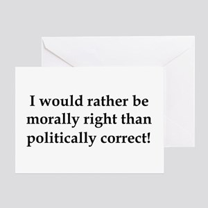 Anti Obama politically correct Greeting Card