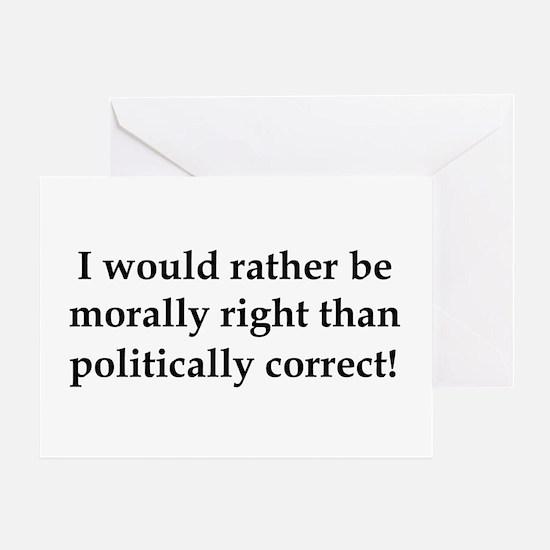 Anti Obama politically correct Greeting Card