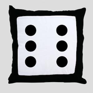 Dice 6 Throw Pillow