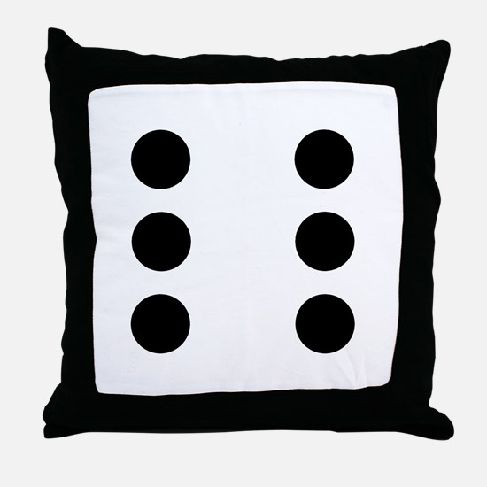 Dice 6 Throw Pillow