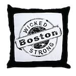 Boston Wicked Strong Throw Pillow