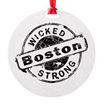 Boston Wicked Strong Round Ornament
