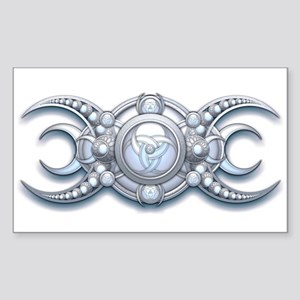 "Ornate Wiccan Triple Goddess 3"" Lapel Sticker"
