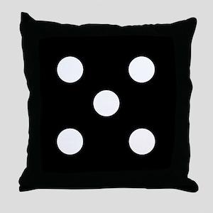 Black Dice 5 Throw Pillow