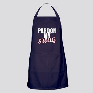 PARDON MY SWAG red Apron (dark)