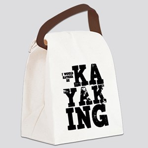 'Rather Be Kayaking' Canvas Lunch Bag