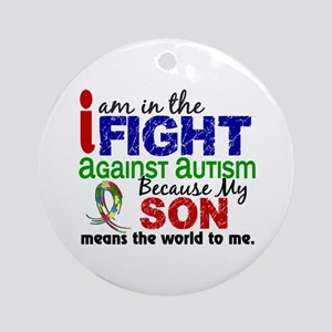 In The Fight 2 Autism Ornament (Round)