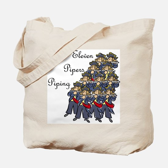 Eleventh Day of Christmas Tote Bag