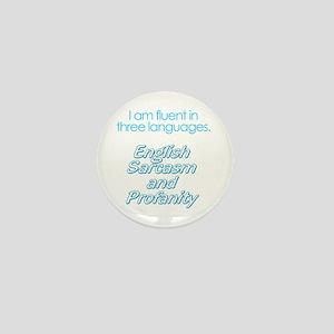 English, Sarcasm and Profanity Mini Button