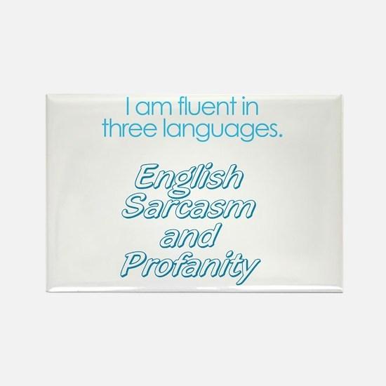 English, Sarcasm and Profanity Rectangle Magnet