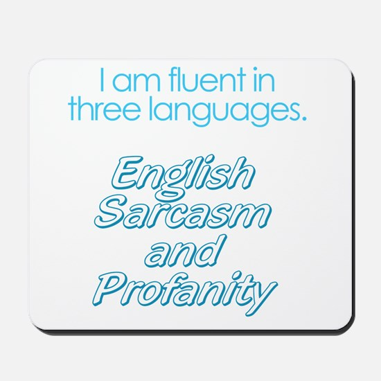 English, Sarcasm and Profanity Mousepad