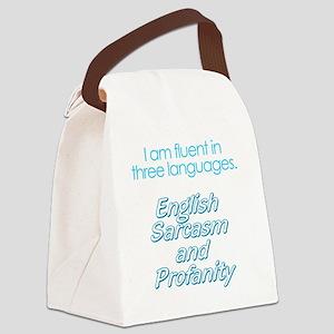 English, Sarcasm and Profanity Canvas Lunch Bag