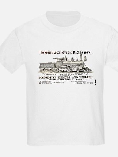 Rogers Locomotive Works 1870 Ash Grey T-Shirt