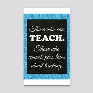 TEACHERS Rectangle Car Magnet