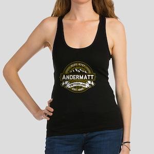 Andermatt Logo Olive Racerback Tank Top