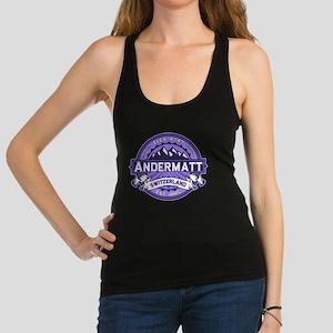 Andermatt Logo Violet Racerback Tank Top