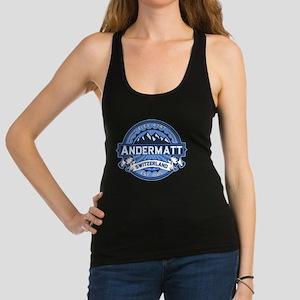 Andermatt Logo Blue Racerback Tank Top