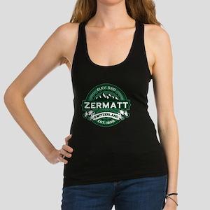 Zermatt Logo Forest Green Racerback Tank Top