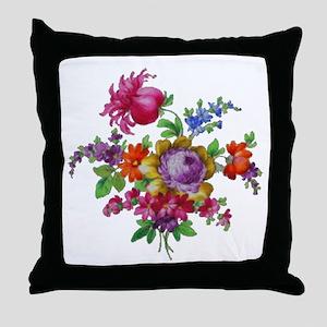 Dresden Flowers Throw Pillow